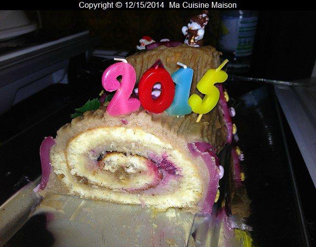 BÛCHE 2015 MARRON FRAMBOISES (recette maison)