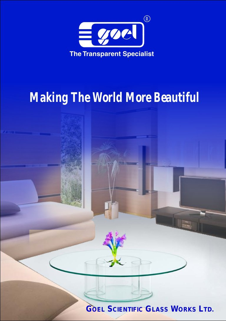Making The World More Beautiful glass table