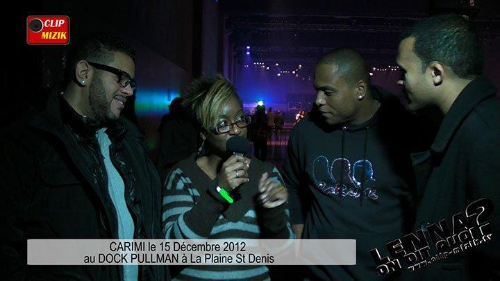 Vidéo CARIMI le 15 décembre 2012 au DOCK PULLMAN animée par Lenna