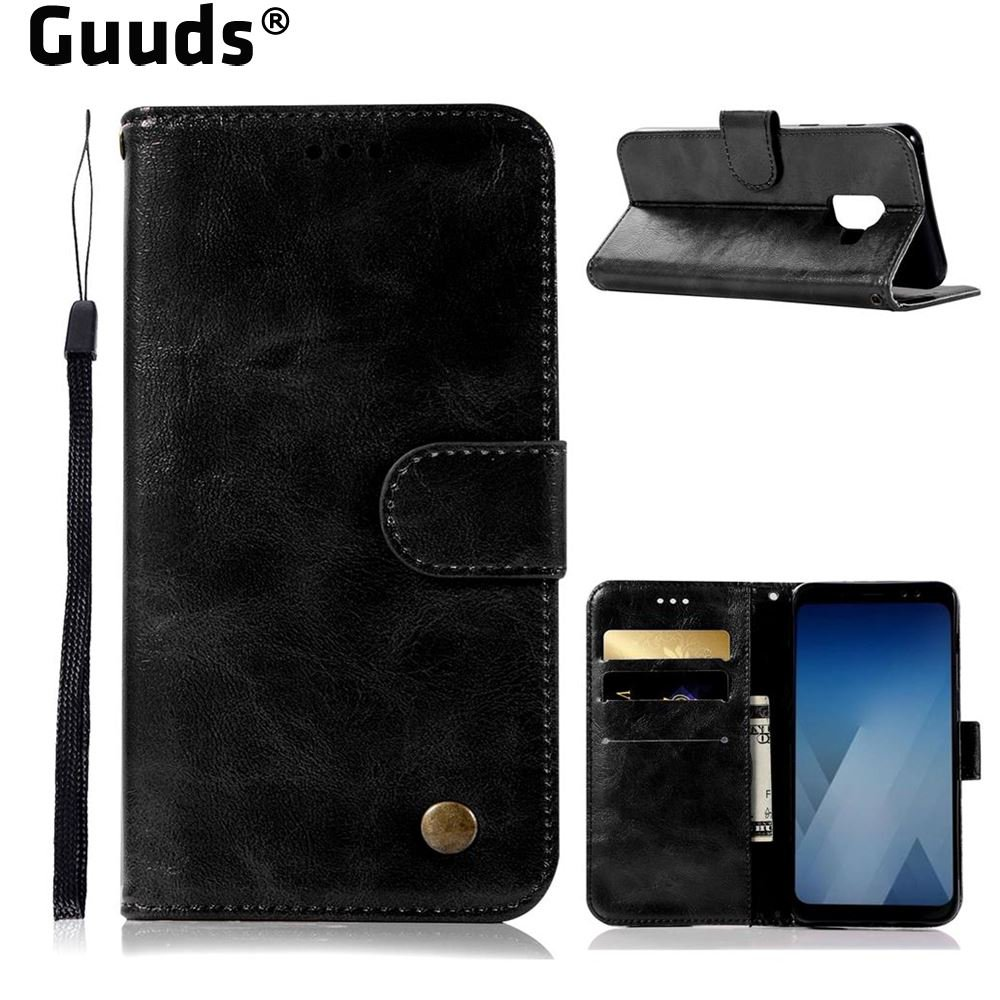 Aliexpress.com : Buy For Samsung A7 2018 A730 Leather Case Luxury Retro Leather Wallet Case for Samsung Galaxy A7 2018 A730 FREE SHIPPING from Reliable leather wallet case suppliers on GUUDS Offici...