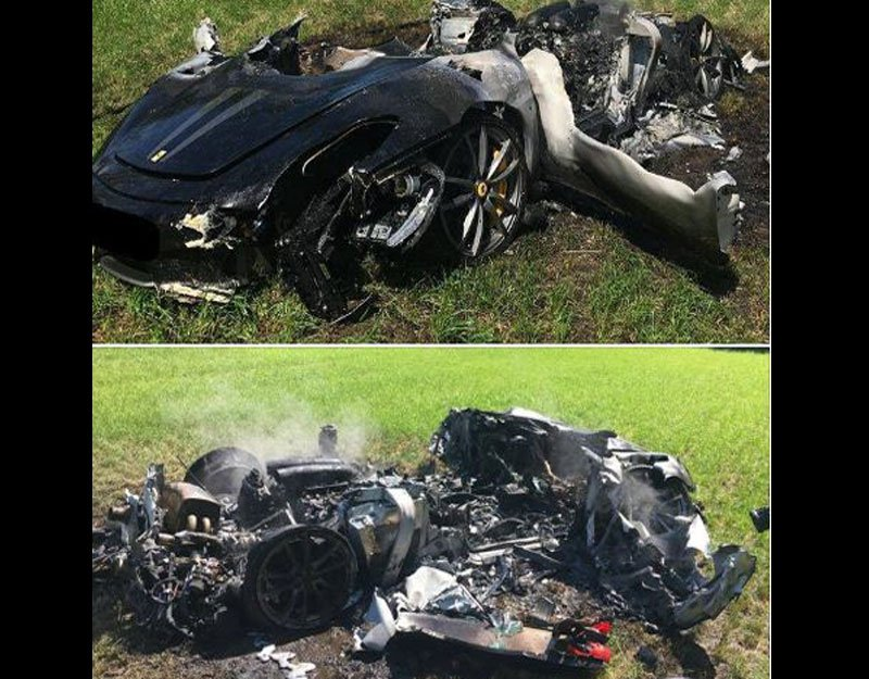 Royaume-Uni : il pulvérise sa Ferrari une heure après l'avoir achetée !