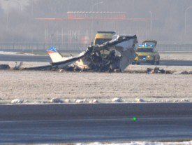 Un avion s'écrase à Charleroi: 5 morts, dont 3 enfants