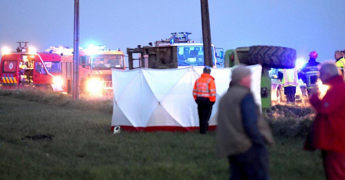 11-04-2017 - Maulde - Barry - Tournai - Terrible accident professionnel que celui survenu ce mardi soir. Un entrepreneur agricole de Maulde agé de 55 ans est décédé
