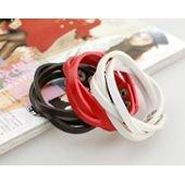 Bracelets cuir rouge/noir/blanc