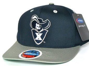 Casquette Neuve Ajustable Officielle NCAA - Ecusson Xavier Mousquetaire (Xavier Musketeers Shield) Snapback - Bleue Marine/Grise: Amazon.fr: Bienvenue