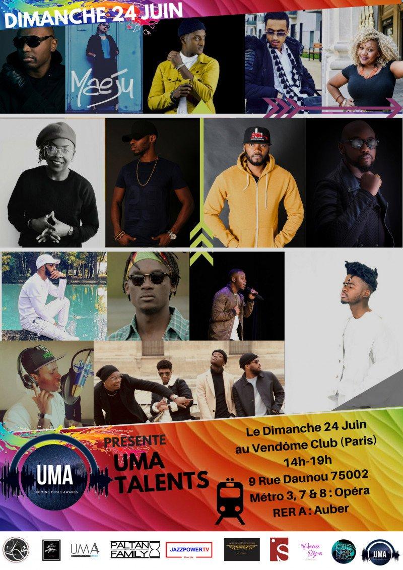 retrouvez N-ZI en live au UMA Talents - Paris, France