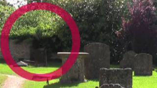 Real Ghost caught on tape in old cemetery
