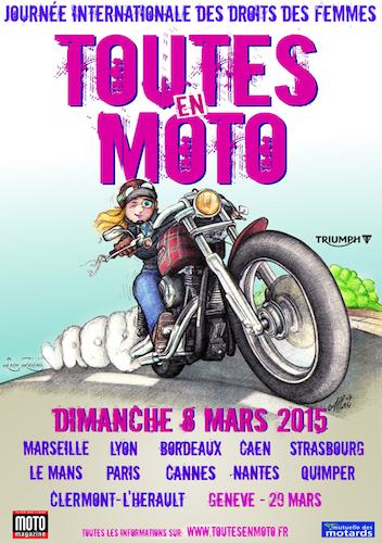 Le 8 mars, elles seront « Toutes en Moto »