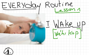 Anglais-Français Niv. A1- A2 : Everyday Routine (Lesson 1) Until The Bus Stop. | Educreations