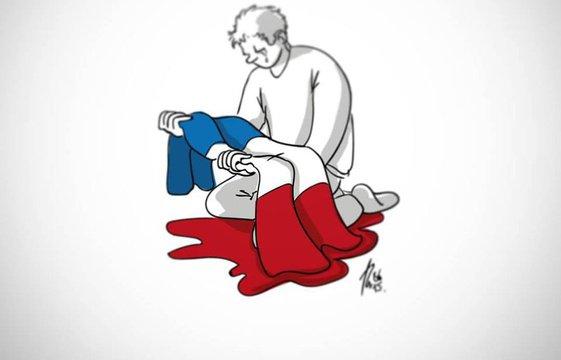 Attentats à Paris: Le dessin d'un Nantais a ému le monde entier