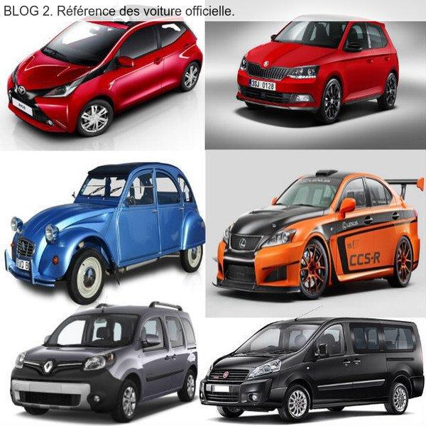 BLOG 2. Référence des voiture officielle. pseudos du blog nicolas540002.