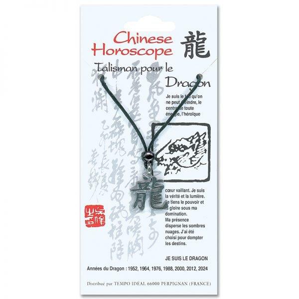Pendentif horoscope Chinois (12 signes) - Magie des Bijoux