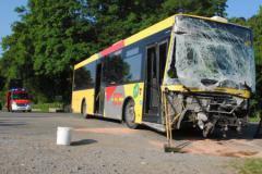 Sohier (Wellin) : collision entre un bus TEC et un camion