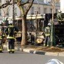 EN IMAGES. Un bus Ratp ravagé par les flammes