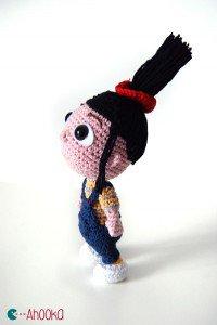 Agnès (moi, moche et méchant) au crochet – modèle gratuit [amigurumi] | Ahookamigurumi