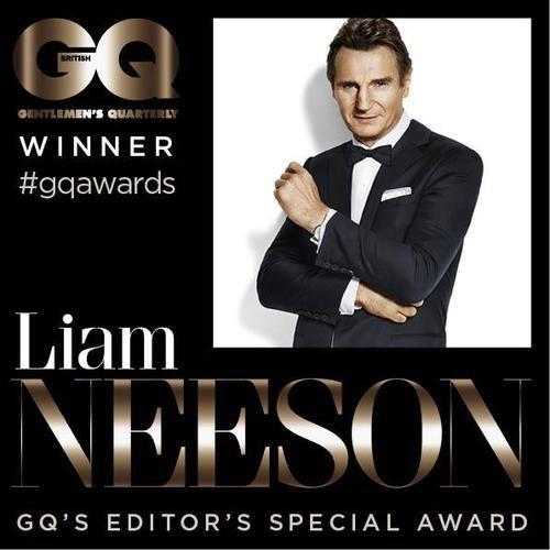Liam Neeson remporte le GQ's editor's special awards
