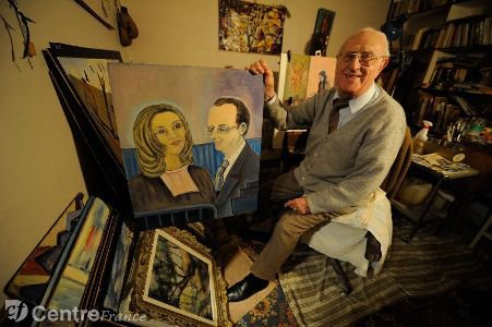 Il voulait offrir ce tableau au couple Hollande - Trierweiler mais...trop tard !