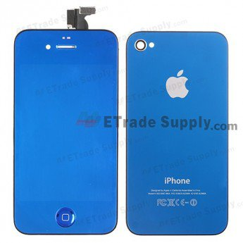 Apple iPhone 4 Plated LCD Assembly with Battery Door and Home Button