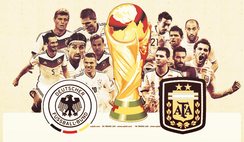 تقديم مباراة نهائي كاس العالم 2014 المانيا vs الارجنتين