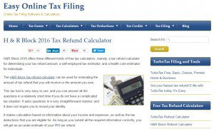 Free H&R Block Tax Calculator