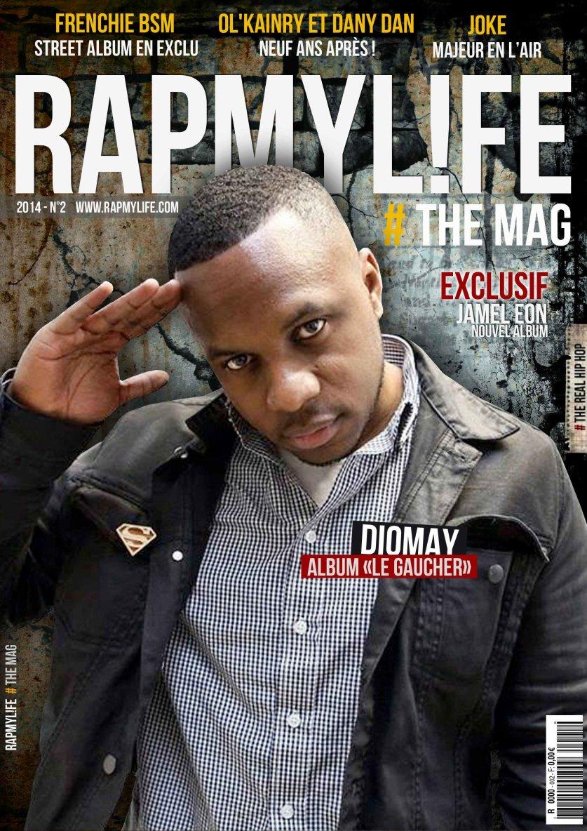Diomay en couverture du nouveau numéro de Rapmylife Magazine !