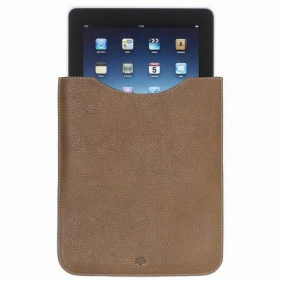Cozy Mulberry Simple iPad Sleeve in Oak Natural Leathe For Sale Online