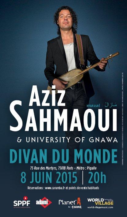 Concert de Aziz Sahmaoui le 8 juin 2015 au Divan du monde.