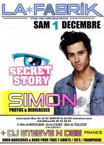 Montauban-Info.com : Toutes les sorties à Montauban | SIMON DE SECRET STORY A LA FABRIK