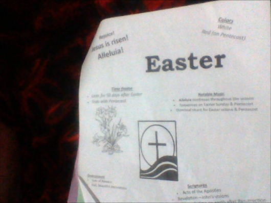 Cross Castle1982: Adventures in RCIA - The Catholic Church Calender: Easter Time