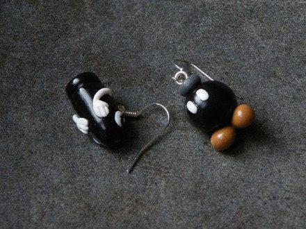 Boucle d'oreille thème jeux video #2 en fimo Argent 925 : Boucles d'oreille par jl-bijoux-creation
