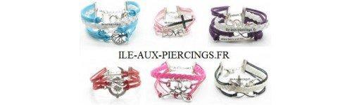Bracelet Karma Mixte Infini - ile-aux-piercings.fr
