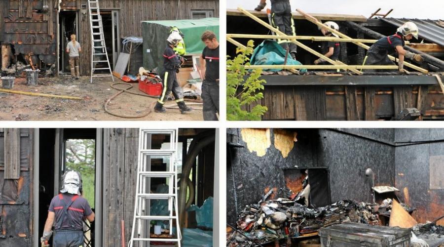 NEW : Suite article du lendemain : Le feu détruit deux locaux professionnels / Source Ouest-France.