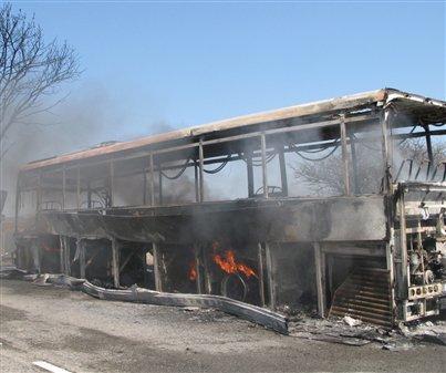 Un bus TER parti en fumée au col de l'Escrinet