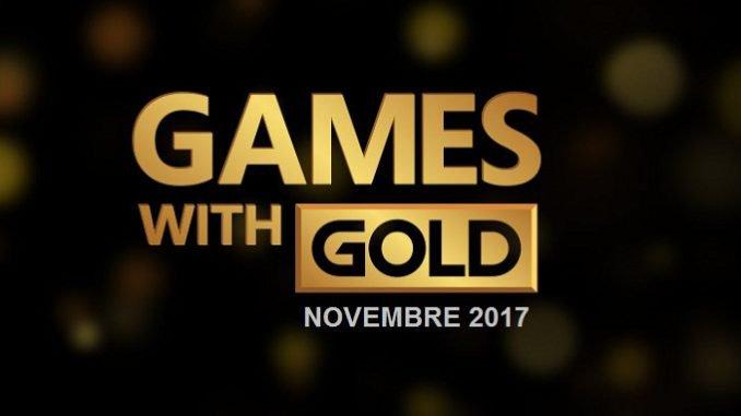 Novembre 2017 Xbox Games With Gold : 7 nouveaux jeux