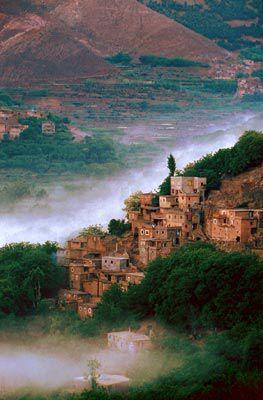 Un village ddans la région Souss-Massa-Draa,Maroc,ma région.