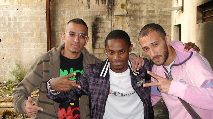 Kamal Garri, D2T (Black Marché) et Fask (Playad)