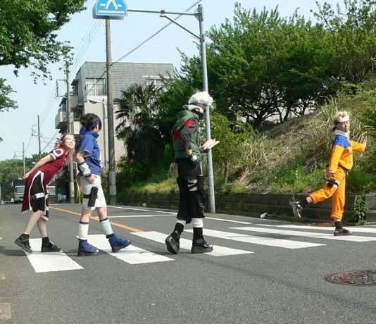 La team 7 traversant la route ^^