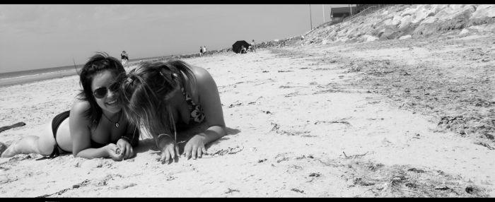 BrunasS' & mOii à la plage.