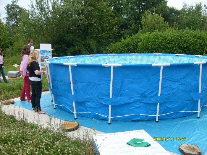 montage de la piscine