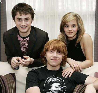 Le Trio : Harry , Hermione , Ron