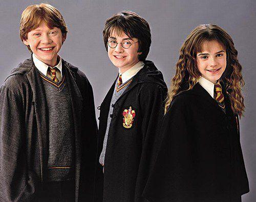 Le Trio : Ron , Harry , Hermione