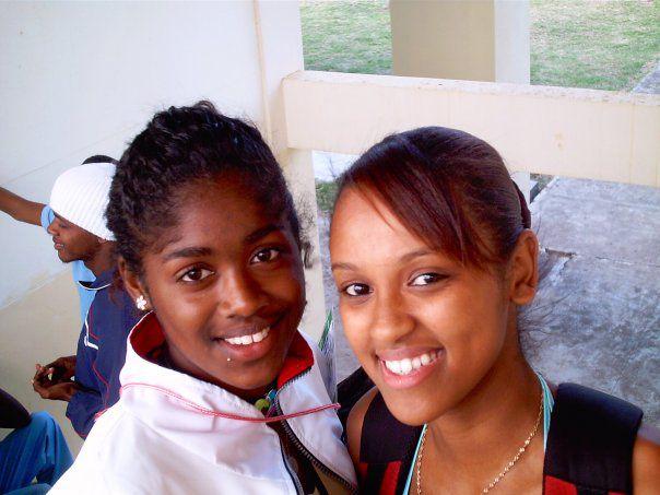 Marie Laure et Moi au 9th championnat d'afrique junior