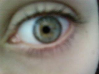 mon oeil de très près