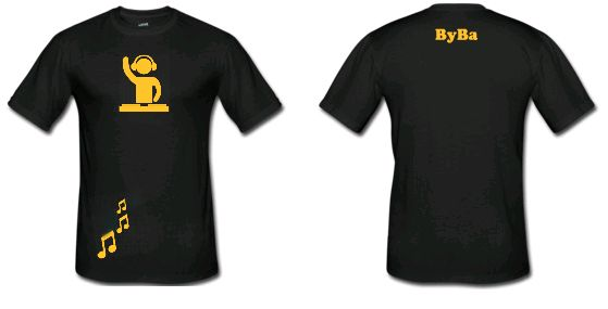 tee shirt hommes DJ ByBa