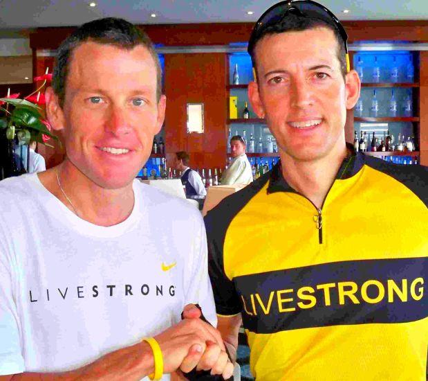 Erick Marchello et Lance Armstrong