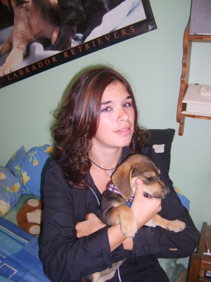 moi et ma nouvelle chien ki a 2moi
