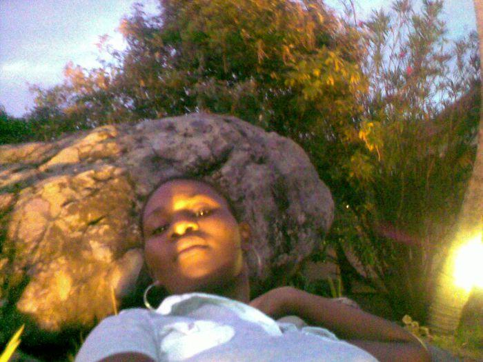 moi sur le rocher