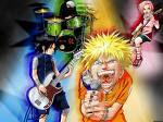 naruto et sont groupe e rock!!!