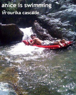 I swim in Ourika cascade