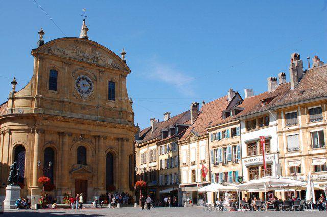 Place Pestalozzi à Yverdon/ Vaud/ ©  2009